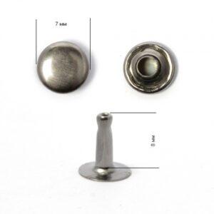 Хольнитен №7*7 черный никель (уп.2000шт)