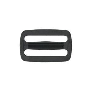 Двухщелевая пряжка 40мм черный ПП (уп. 100шт)