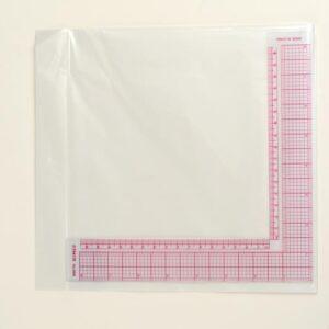 Линейка для кроя и шитья, 21,5 х 21,5 см, цвет прозрачный (1215391)