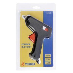 Пистолет клеевой TUNDRA, 20Вт, 220В, 7мм (1221433)