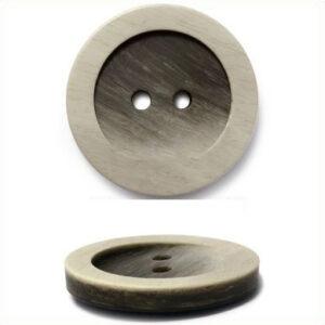Пуговица 2-П д.15мм коричневая матовая (144 шт/уп) МВХ4152