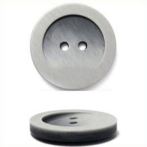 Пуговица 2-П д.15мм серая матовая (144 шт/уп) МВХ4152