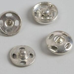 Кнопка пришивная 8мм (уп. 36шт.) никель