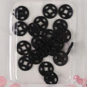 Кнопка пришивная 10мм (уп. 10шт.) черный
