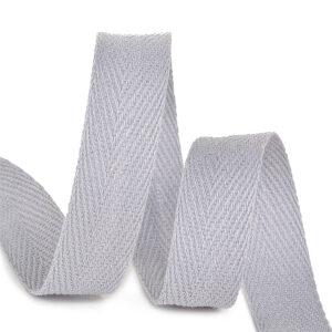 Тесьма киперная 1015 S361 серый, х/б (кат.50м)