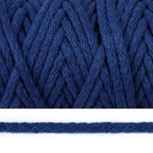 Шнур 5 мм круглый, х/б, 2053К-синий, рул-50м