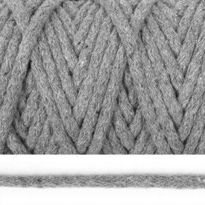 Шнур 5 мм круглый, х/б, 2065К-светло серый, рул-50м