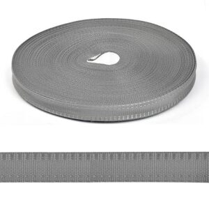 Тесьма брючная серая п/э 15мм (1уп-25м)