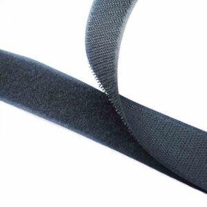 Лента контактная пришив. 25 мм 25м, Комплект, 1375-темно-серый