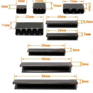 Зажим металл, 9,5*15мм (100 шт/упак) черный никель ГД313842