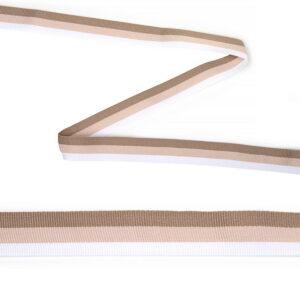 Тесьма тканая неэластичная Лампас NET7710, 20мм (уп.45,7м) цв.белый/беж
