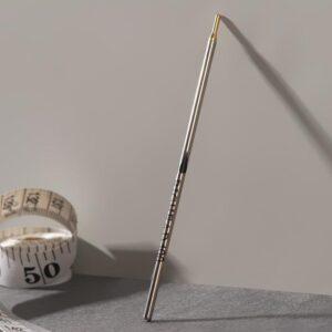 Ручка по коже, смывающаяся, цвет серебряный