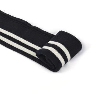 Подвяз трикотажный , темно-синий/белая полоска, п/э, 14х100см (TBY.73071)
