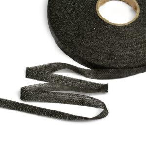 Нитепрошивная кромка 10 мм, черная 1 рул-25 м